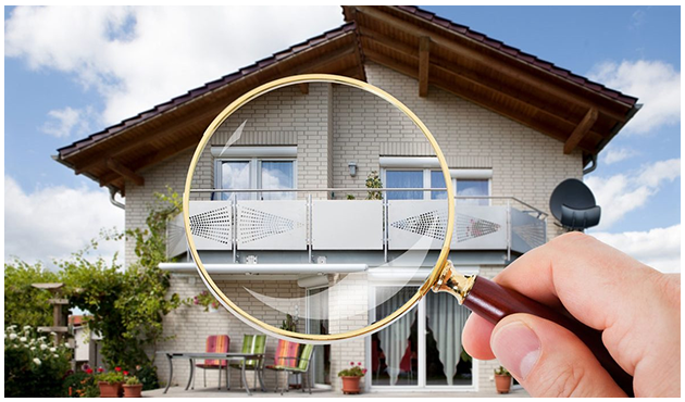 Home with Magnifying Glass