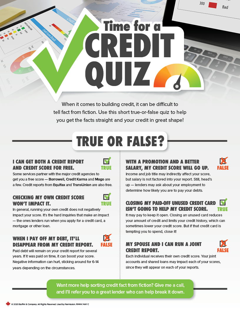 Time for a Credit Quiz