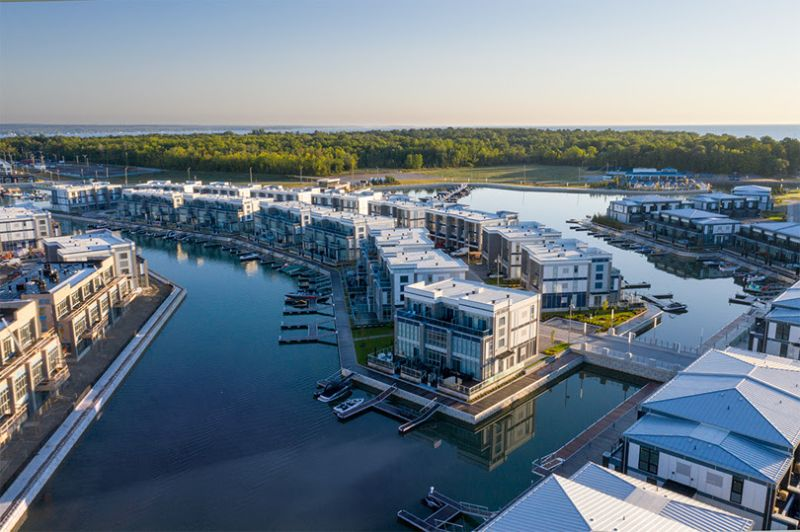 condo buildings along waterfront