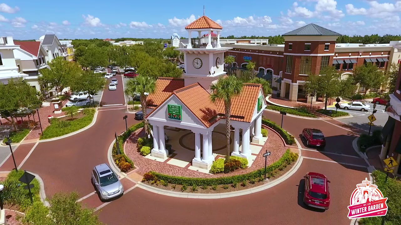 aerial view of clock tower
