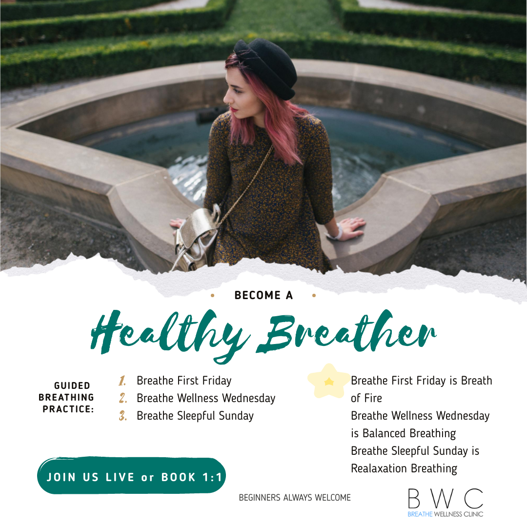 Breathe Wellness Clinic - Guided Breathing Practice schedule
