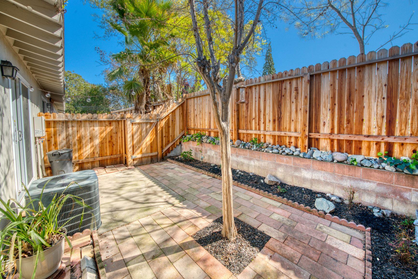 South Hills Manor Condominium backyard patio