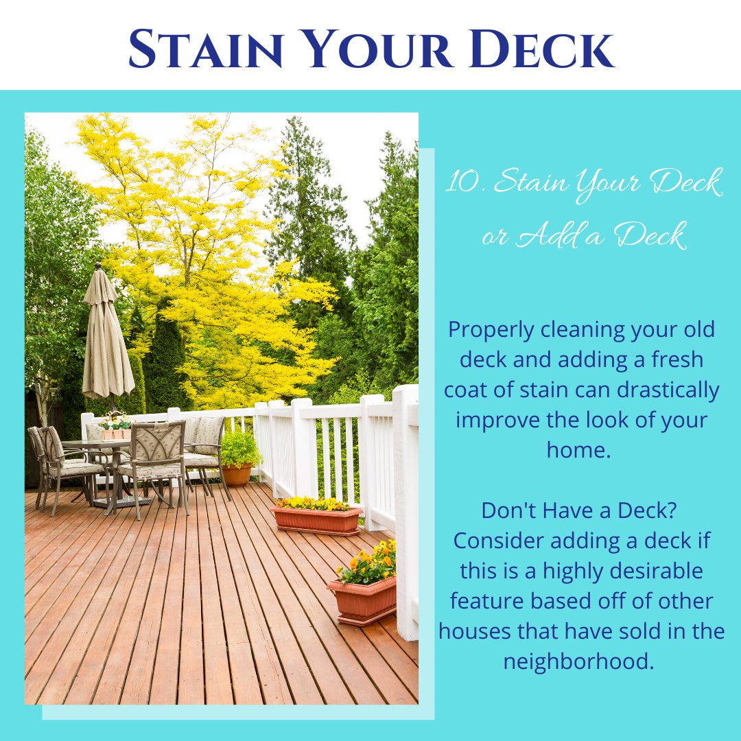 Stain Your Deck