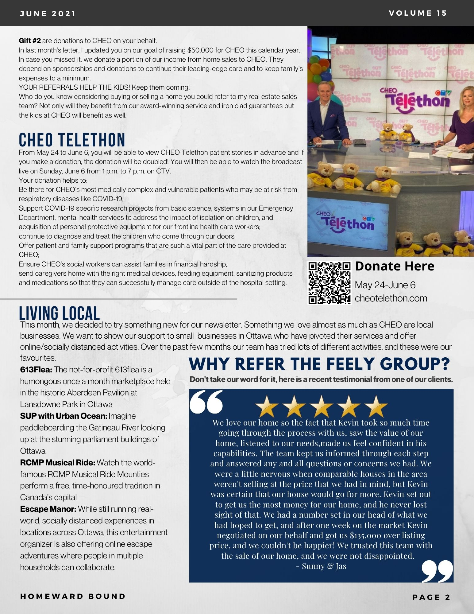 Ottawa Realtors, Feely Group, CHEO, Give Back