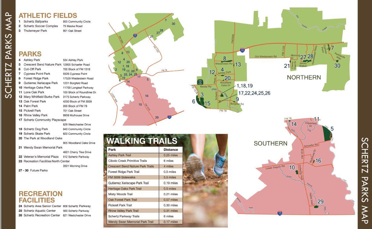 Schertz Parks Map