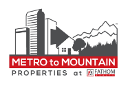 Metro to Mountain Properties at Fathom Realty Logo