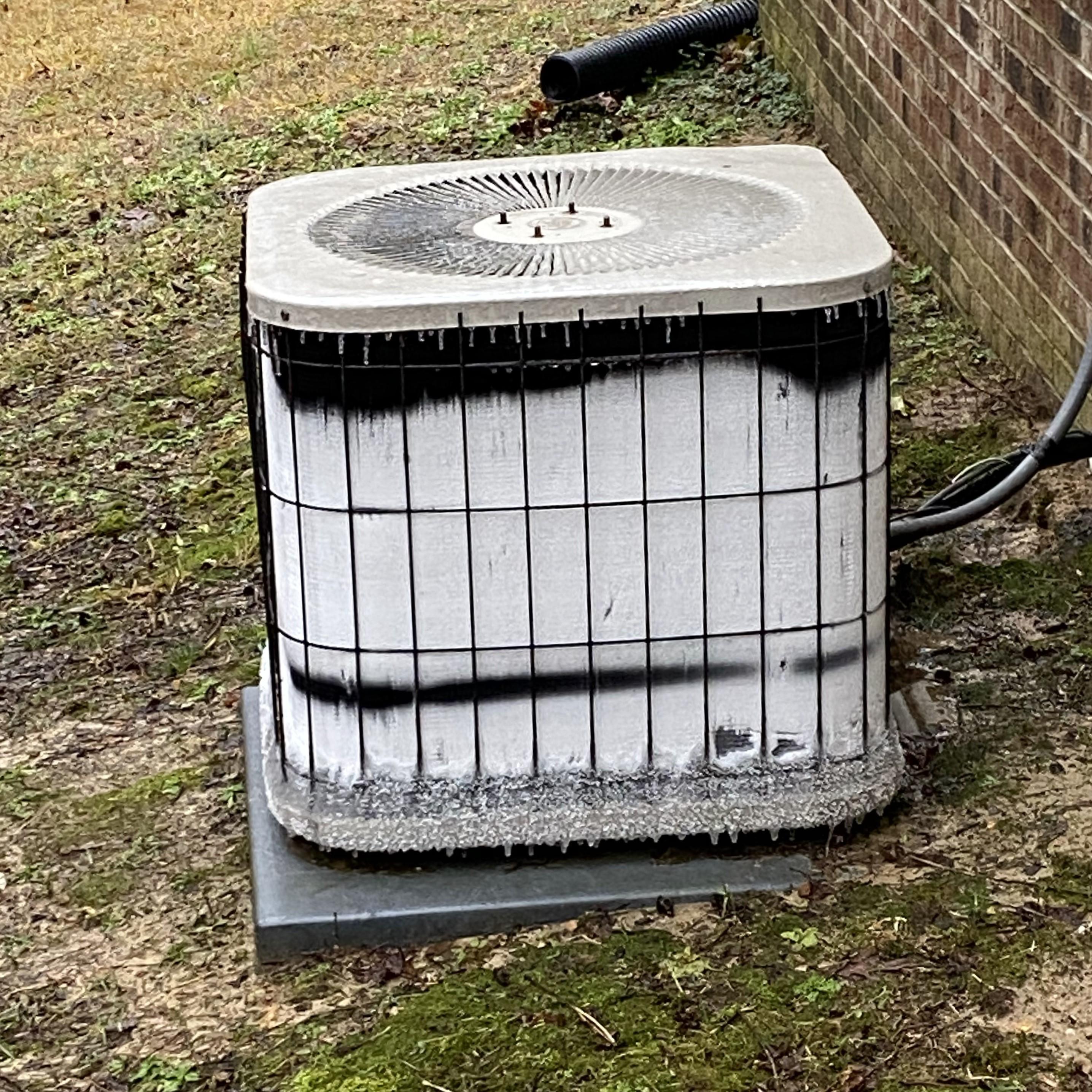 Frozen Frosted Heat Pump