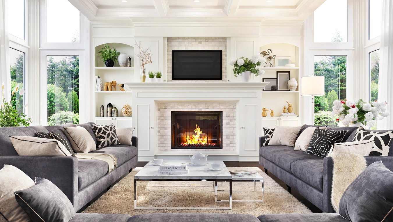 Big Living Room with Fireplace