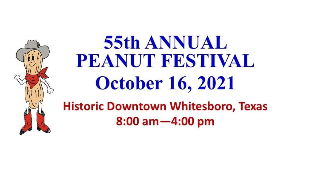 Whitesboro TX Peanut Festival October 16th 2021