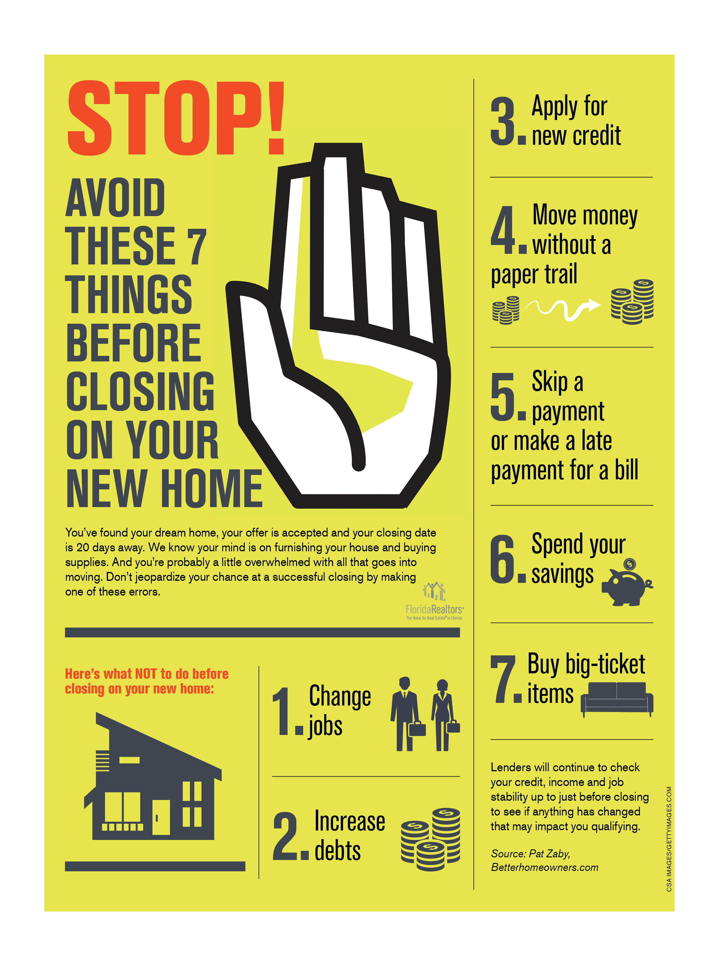7 Things to Avoid Doing Before Closing