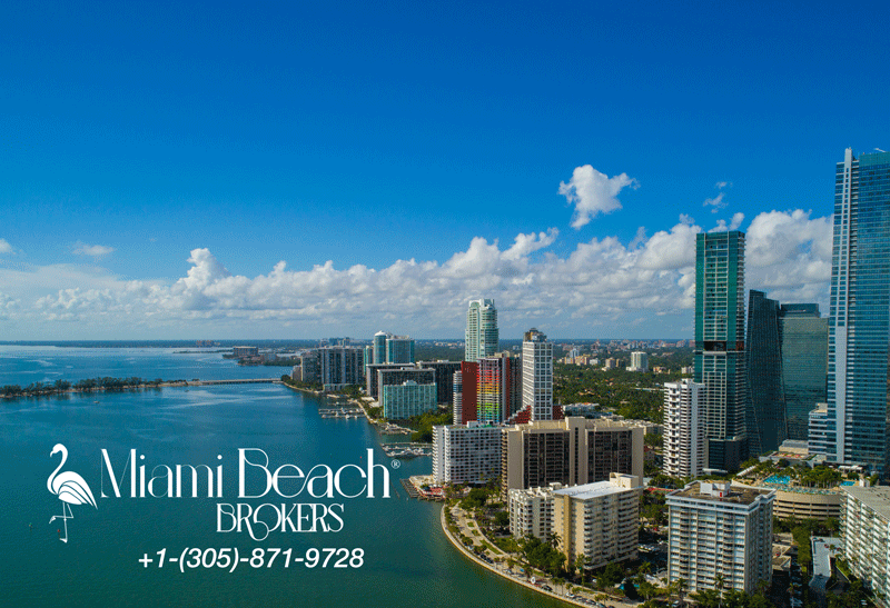 Brickell Bay, Miami FL - a Miami Beach Brokers® branded graphic
