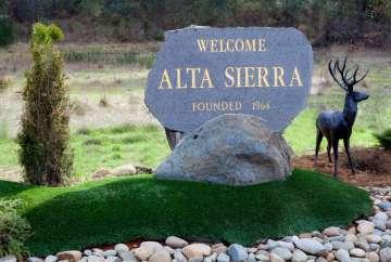 Alta Sierra Stone Sign