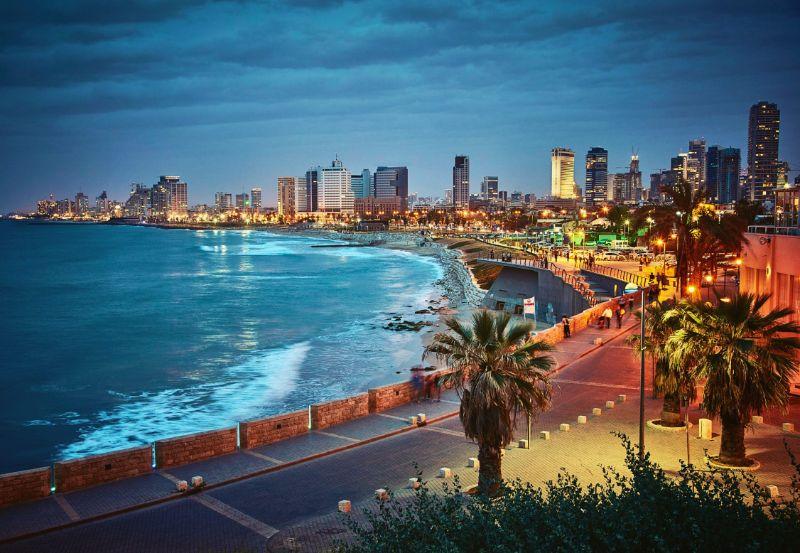 Coastal road in Tel Aviv