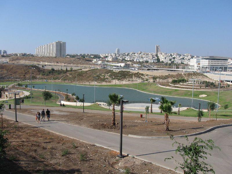 desert park next to city