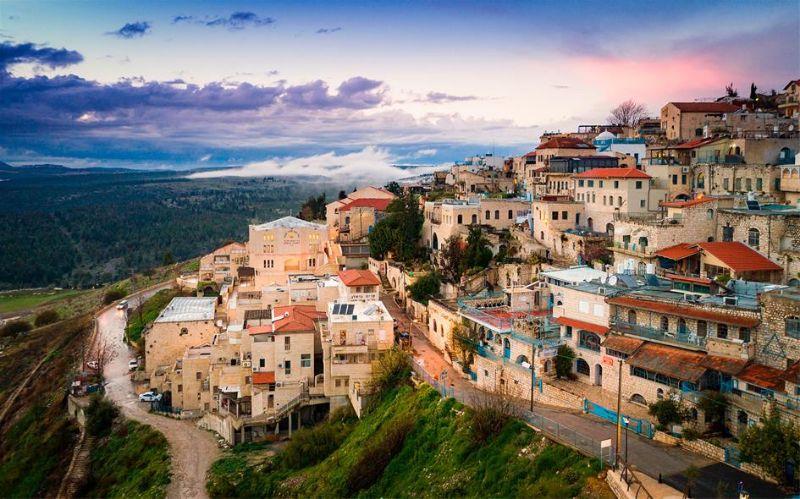 Luxury homes on hillside in valley
