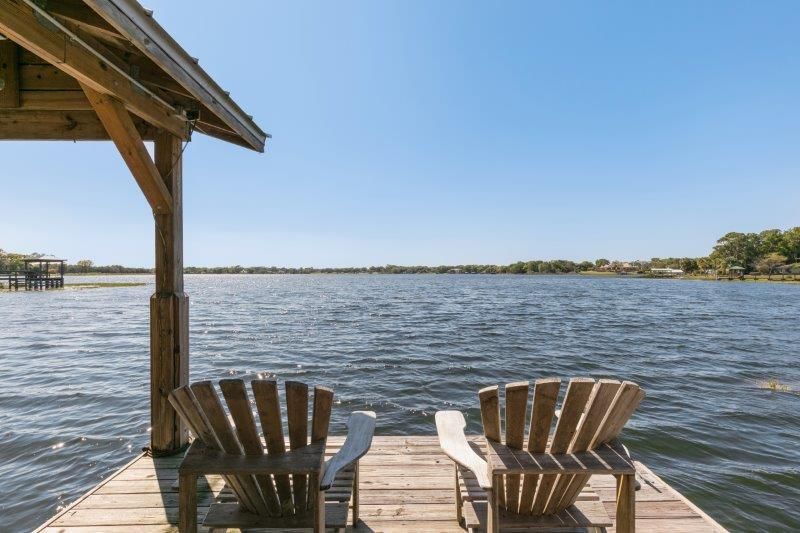 Lake front dock on Lake Gertrude