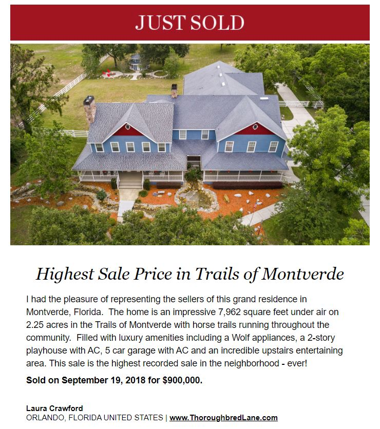 Just Sold Trails of Montverde