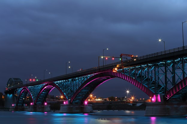 What makes Fort Erie a good place to live? Pictured - peace bridge