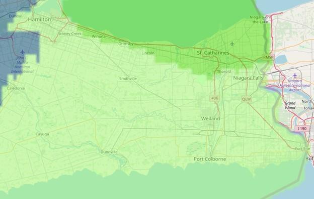 The Niagara Region Growing Zone Map