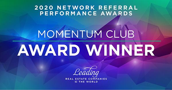 2020 Momentum Club Award Winner Leading RE