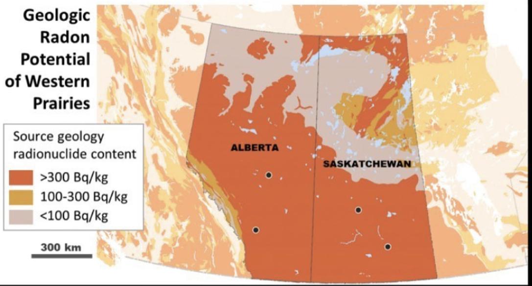Geologic Radon Potential of Western Prairies