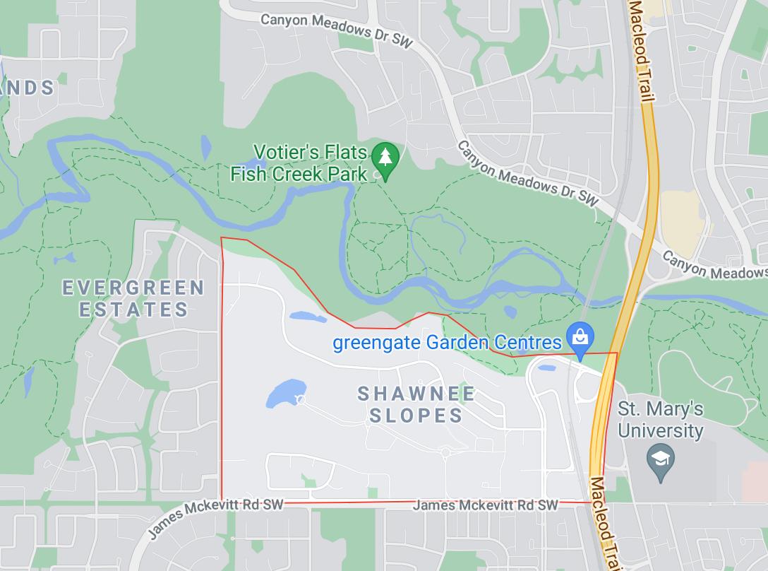 Shawnee Slopes Map