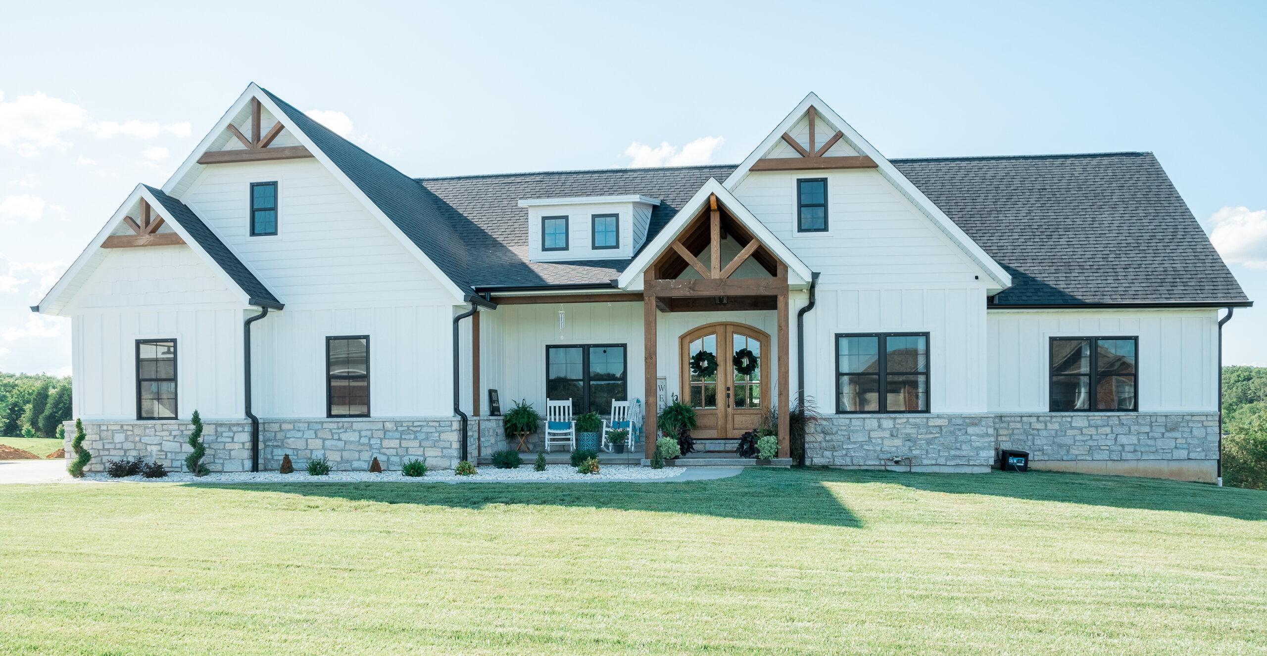 farm house on open land
