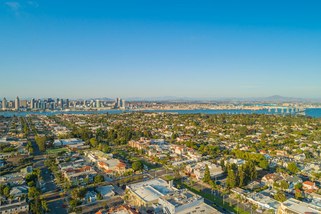 Real Estate Coronado Village Aerial Drone POV