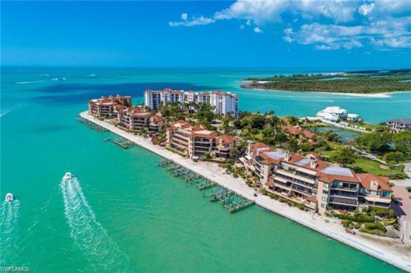 resort next to beach shoreline