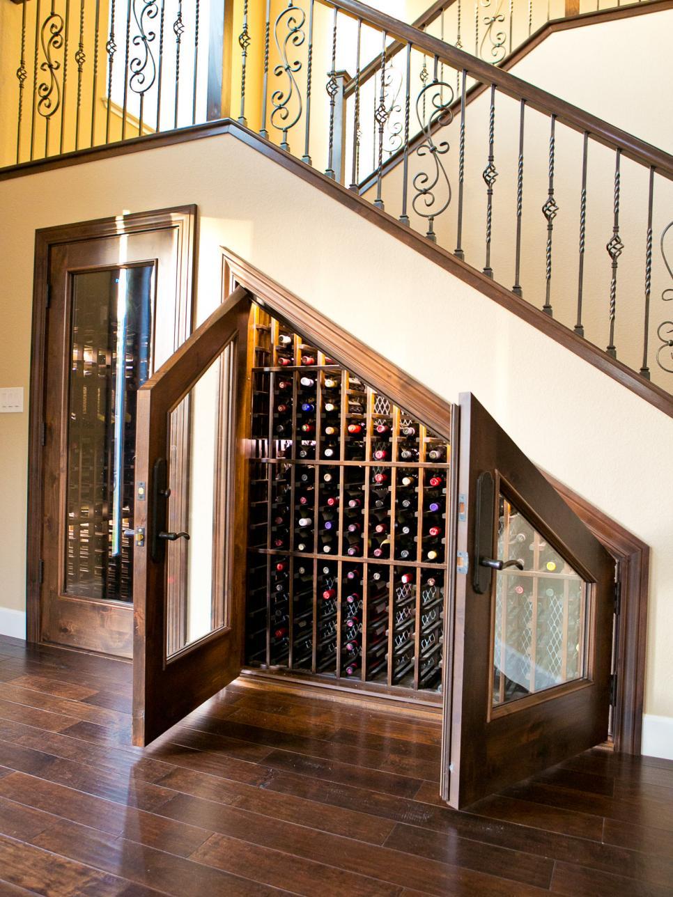 Elegant & Creative Wine Storage Under Stairs
