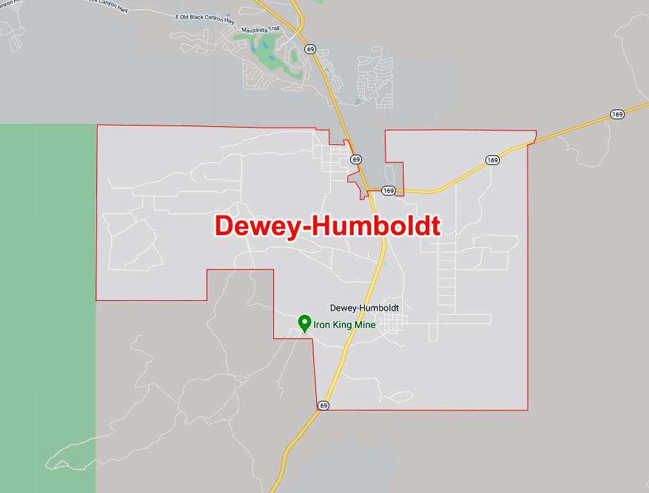 Map of Dewey-Humbolt, AZ