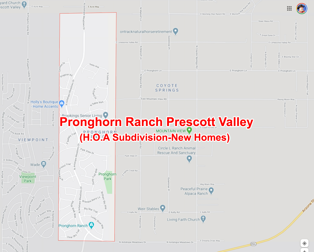 Welcome to Pronghorn Ranch Sign