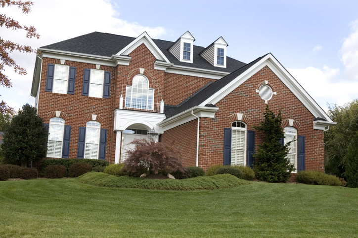 large red brick colonial house