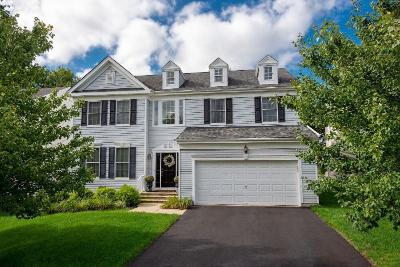 Large white 2-story home