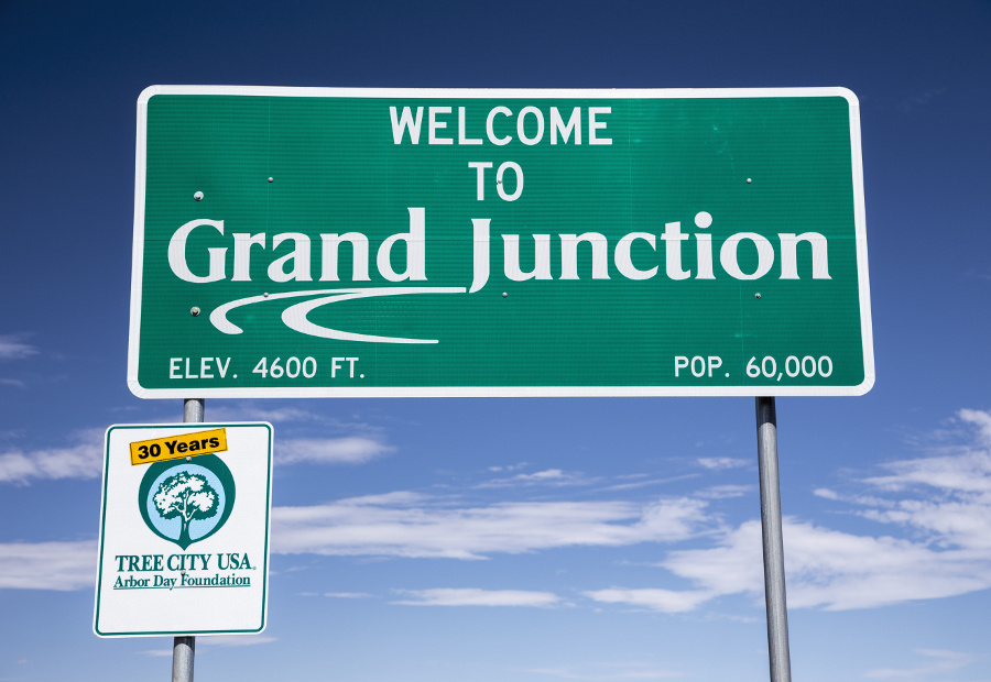 welcome to grand junction sign