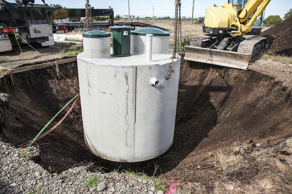 Septic Tank Being Installed